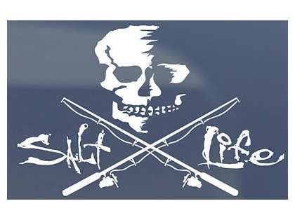 Salt Life Skull and Poles Decals