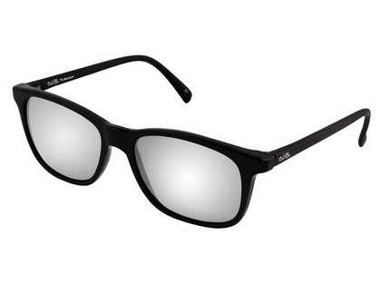 Salt Life Tuscany Sunglasses - Gloss Black/Smoke - Silver Flash