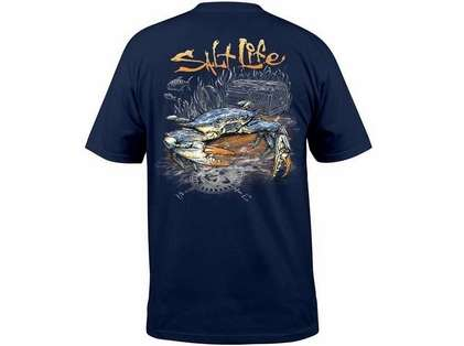 5aa8ad85 Salt Life Blue Crab SS Pocket Tees | TackleDirect