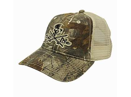Salt Life Skull and Poles Camo Trucker Hat