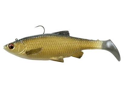 Savage Gear 3D Baitfish Paddletail Lure 4in Golden Shiner