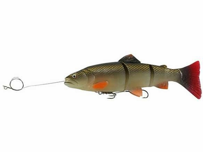 Savage Gear Pre-Rigged 3D Line Thru Trout 10 in. Dirty Silver