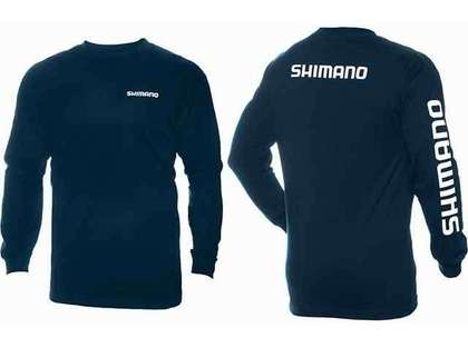 Shimano Brand Cotton Tee Long Sleeve Navy - Large