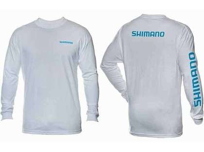 Shimano Brand Cotton Tee Long Sleeve White - Large