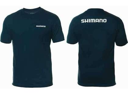 Shimano Brand Cotton Tee Short Sleeve Navy - Large