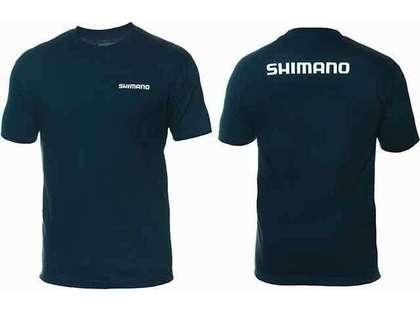 Shimano Brand Cotton Tee Short Sleeve Navy - X-Large