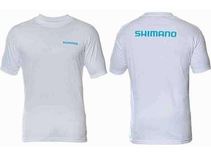 Shimano Brand Cotton Tee Short Sleeve White - Large