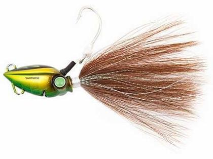 Shimano JLCBUCK100 Lucanus Bucktail Jig - 100g Green Gold