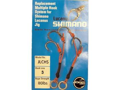 Shimano JLCHS Lucanus Jig Replacement Hooks 2 pack