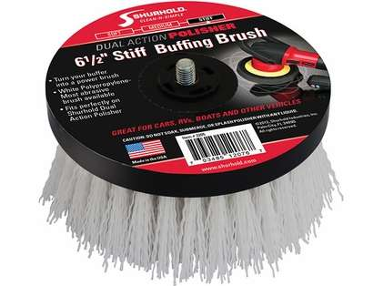 Shurhold 3205 6-1/2in Stiff Brush f/Dual Action Polisher