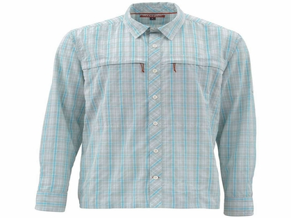 Simms PG-10801 Stone Cold Shirt - Celadon Plaid Large