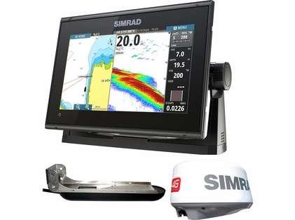 Simrad GO9 XSE Chartplotter/Fishfinder w/ TotalScan & 4G Radar Bundle