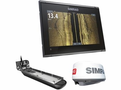Simrad 000-14879-001 GO9 XSE w/3-in-1 Transducer, 4G Radar & C-MAP Pro