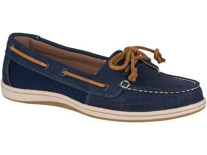 Firefish Scratch Linen Boat Shoes