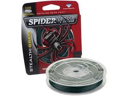 Spiderwire Stealth Braid 300yds 6lb-50lb - Moss Green 15lb