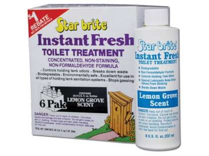 Star Brite Instant Fresh Toilet Treatment Lemon Scent - 8 oz.