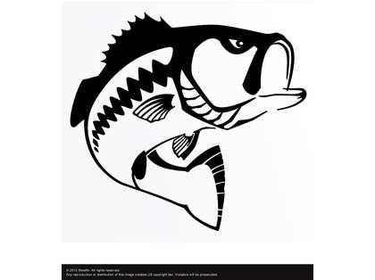Steelfin Largemouth Bass Decals