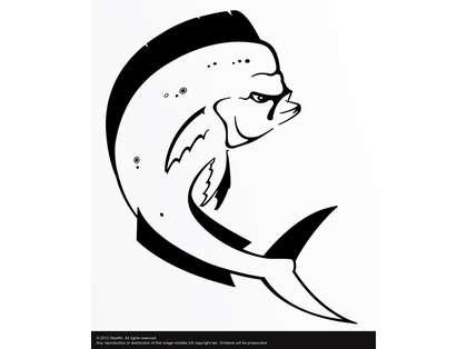 Steelfin Mahi Mahi Decals