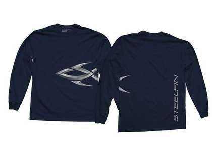 Steelfin Long Sleeve Logo Shirt Navy