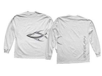 Steelfin Long Sleeve Logo Shirt White