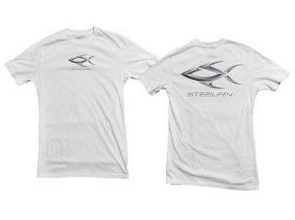 Steelfin Short Sleeve Logo Tee White