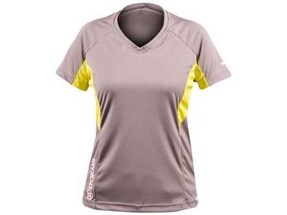 Stormr RW110W-02 Womens Short Sleeve UV Shield Shirt Smoke