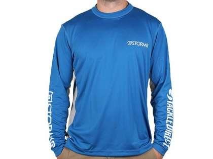 Stormr UV Shield TackleDirect Logo Long Sleeve Shirt - Blue - X-Large