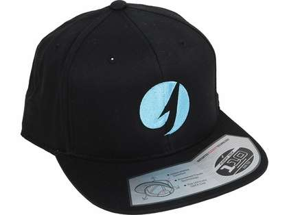 TackleDirect Flexfit Twill Snapback Hat - Black/Cool Blue Logo