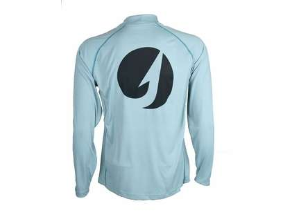 TackleDirect Logo Solarflex L/S Crewneck Shirt - Slate Blue - Large