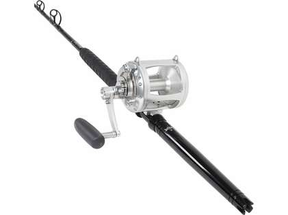 TackleDirect Platinum Hook Avet EXW 50/2 Silver LH Standup Combo