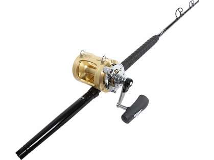 TackleDirect Platinum Hook Shimano Tiagra 50WLRSA Standup Combo