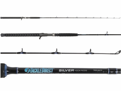 TackleDirect Silver Hook Conventional Jigging Rods