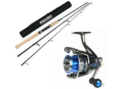TackleDirect Silver Hook TDSSTS703M / Okuma BTX-40 Travel Combo