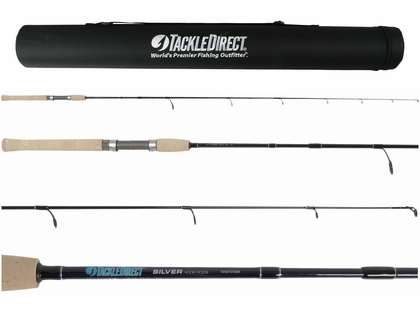 TackleDirect TDSSTS703M Silver Hook Series 3PC Travel Rod - 7 ft.