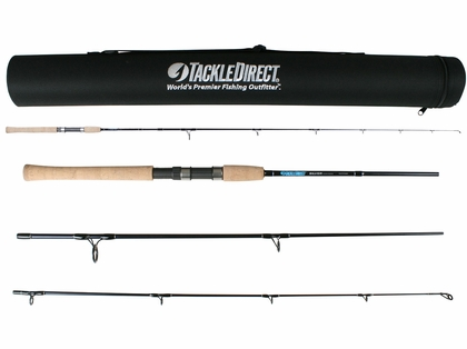 TackleDirect TDSSTS703MH Silver Hook Series 3PC Travel Rod - 7 ft.