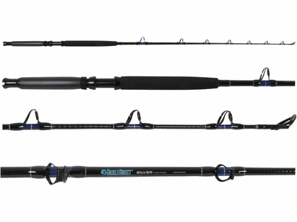 TackleDirect TDSSUT601MHSB Silver Hook Conventional Standup Rod
