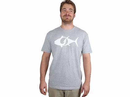 TackleDirect Tuna Logo Men's T-Shirt - Heather Gray