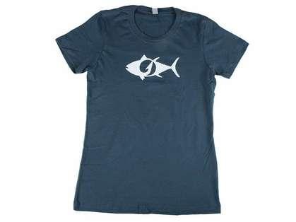 TackleDirect Tuna Logo Women's T-Shirt - Indigo - Size X-Small
