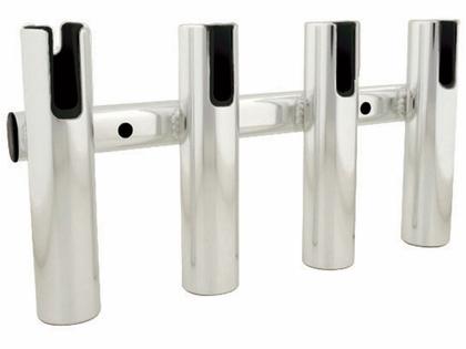 TACO 4-Rod Holder Rack, Brushed Aluminum - F31-3004BSA-1
