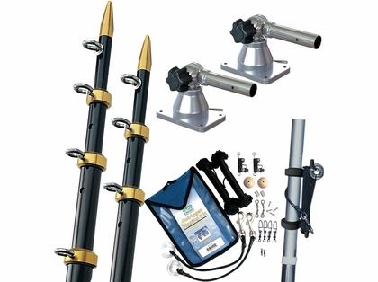 TACO Grand Slam 170 Outrigger Kit 15' 1-1/8 Black/Gold GS-170BKA15-1