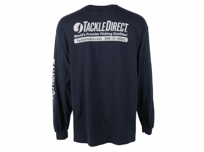 TackleDirect Logo-T Long Sleeve Navy XL