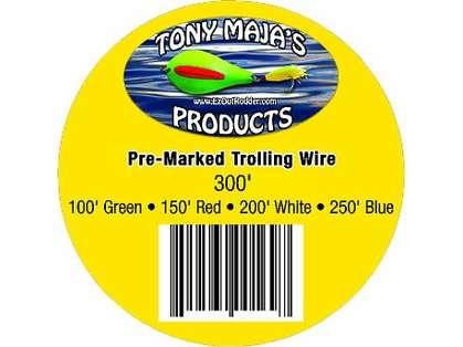 Tony Maja PM50-300 Pre-Marked 50# Monel Trolling Wire
