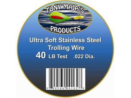 Tony Maja Stainless Steel Trolling Wire 40lb Test 300ft Spool