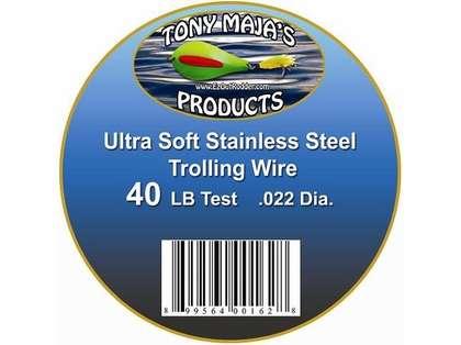 Tony Maja Stainless Steel Trolling Wire 40lb Test 6000ft 10lb Spool