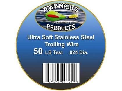 Tony Maja Stainless Steel Trolling Wire 50lb Test 300ft Spool