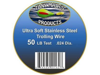 Tony Maja Stainless Steel Trolling Wire 50lb Test 6000ft 10lb Spool