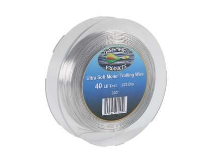 Tony Maja Ultra Soft Monel Trolling Wire 40lb 300ft Spool
