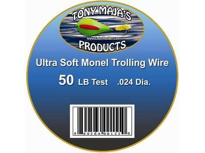 Tony Maja Ultra Soft Monel Trolling Wire 50lb 5200ft 10lb Spool