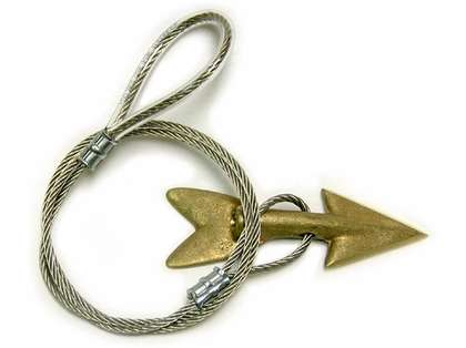 Tournament Cable Bronze Harpoon Dart Rigged with 30in Stainless Cable