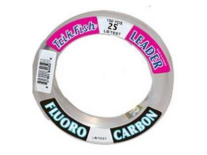 Trik 25FLS02501 Flourocarbon Clear Leader - 25Lb - 25Yds